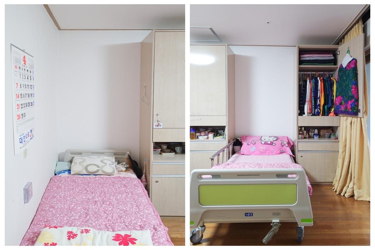 침대 생활실 개인옷장